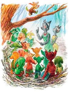 Тамара Михеева: Шумсы - хранители деревьев. Иллюстрация Ольги Березинской