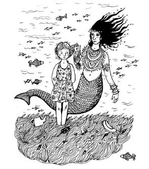 Рисунок Кати Толстой к книге «Асино лето»