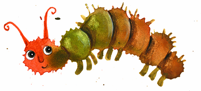 """Иллюсторация из книги """"Осенние рыбы. Первые уроки творчества"""""""