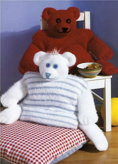 Все самое лучшее детям.  Подушки-медвежата. источник.