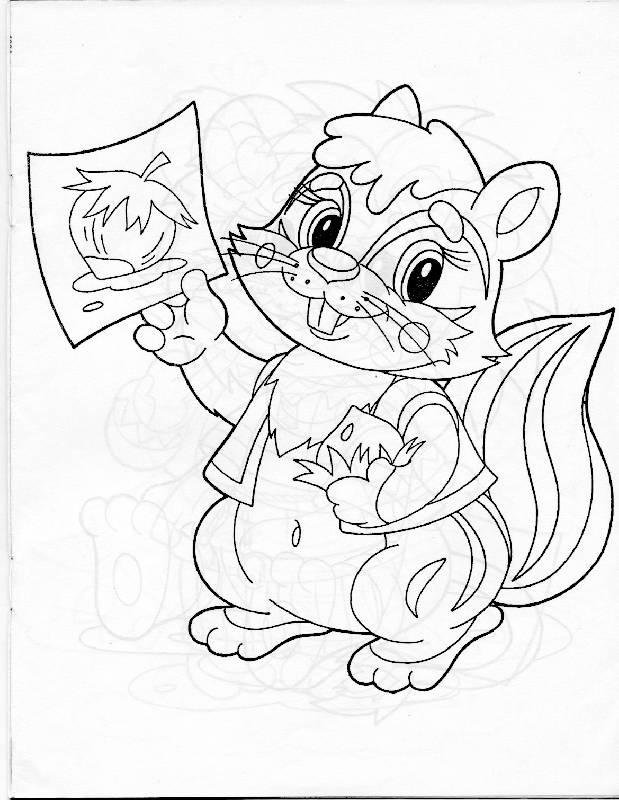 Иллюстрация 1 из 2 для Раскраска для самых маленьких (бурундучок) | Лабиринт - книги. Источник: РИВА
