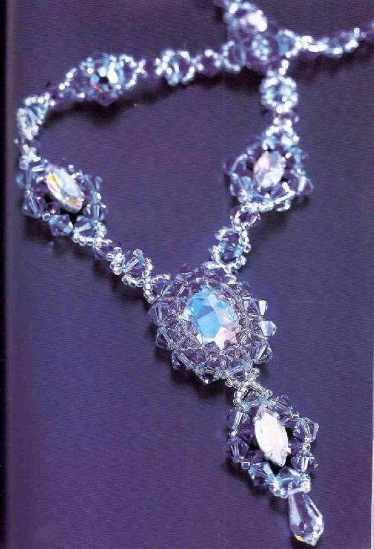 ...романтичное колье украсит вашу шейку и придаст роскошный вид и в... Как делать колье из крупных бусин и кристаллов.