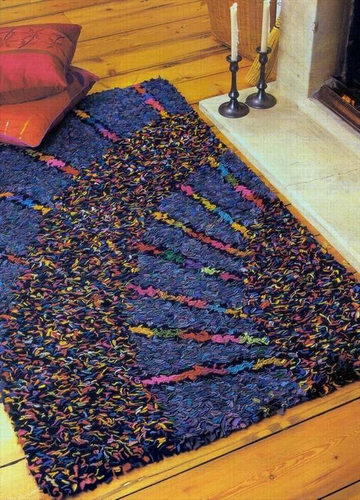 Половики и коврики из костюмной ткани старых вещей своими руками