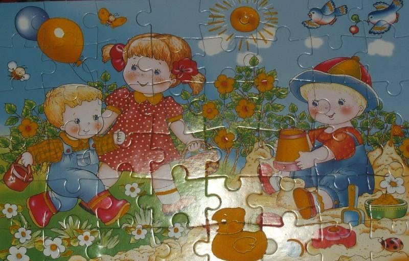 Иллюстрация 1 из 10 для Бархатные пазлы. Детская площадка   Лабиринт - игрушки. Источник: Иванова  Екатерина