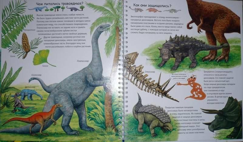 Иллюстрация 1 из 29 для Динозавры (на пружине) - Патрисия Меннен | Лабиринт - книги. Источник: Лора76756465