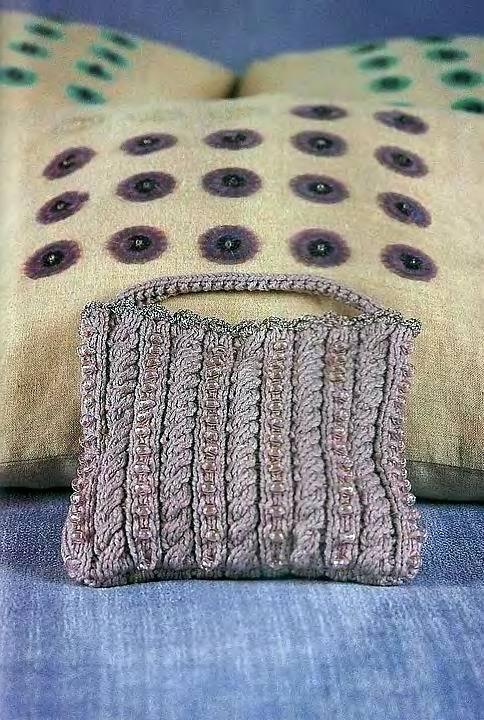 Элегантная сумочка для телефона, связанная крючком.  25 вязанных сумочек.