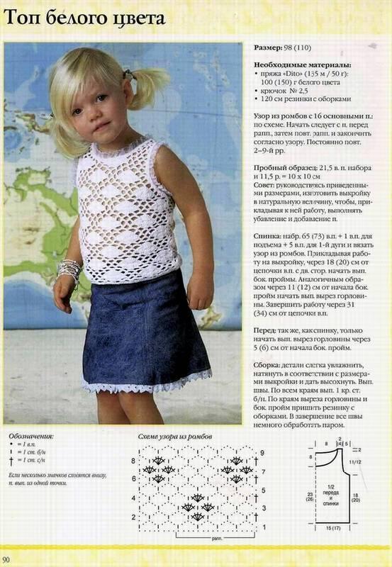 Вязание крючком модели и для детей