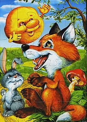 Иллюстрация 1 из 4 для Колобок. Пазл-20 макси (00189)   Лабиринт - игрушки. Источник: акка