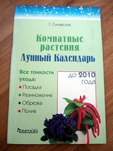 Иллюстрация 1 из 7 для Комнатные растения. Лунный календарь до 2010 года - Галина Синявская | Лабиринт - книги. Источник: Galia