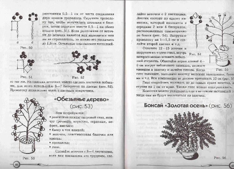 9. 8. 7. 6. 5. 1. книги Плетем деревья из бисера - Ткаченко, Стародуб.  Иллюстрация. предыдущая.