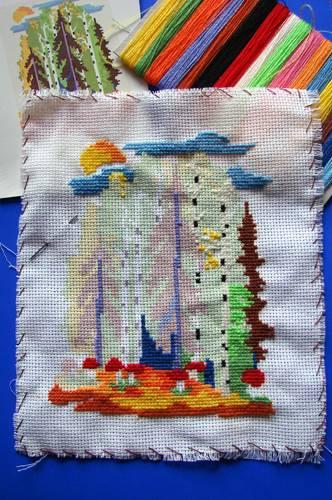 Иллюстрация 1 из 2 для Вышивка крестом: Пейзаж (В010) | Лабиринт - игрушки. Источник: Федорова  Ольга Юрьевна