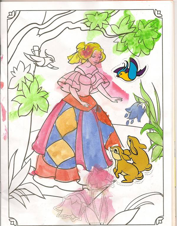 Иллюстрация 1 из 2 для Раскраски с наклейками. Принцессы | Лабиринт - книги. Источник: farnor