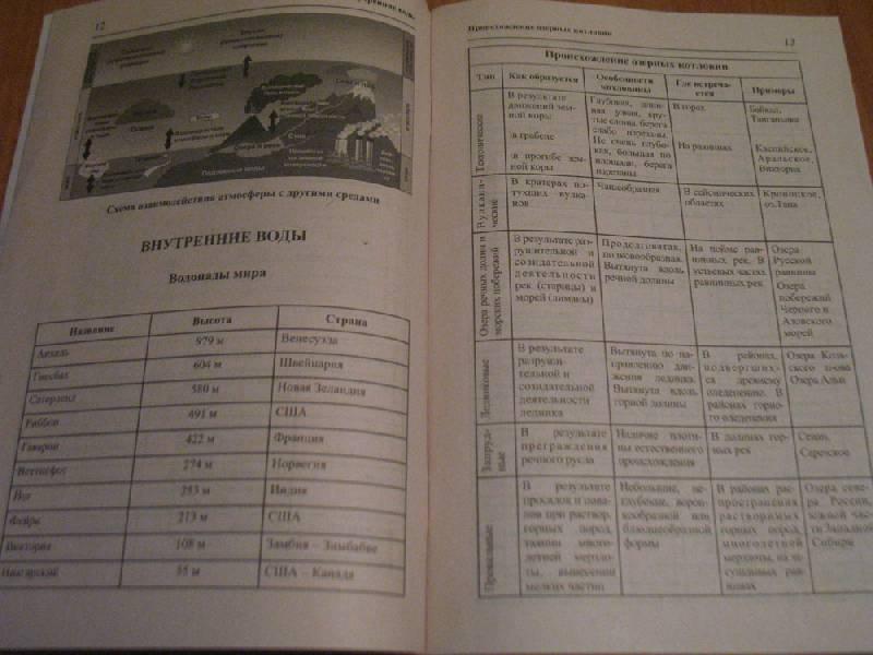 """Иллюстрация 10 к книге  """"География в таблицах и схемах """", фотография, изображение, картинка."""