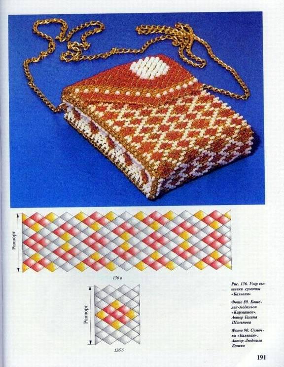 """Приветствуем!  В книге Божко  """"Изделия из бисера """" есть описани сумочек.  Среди них косметичка, которая..."""