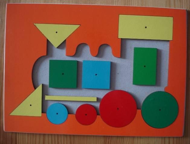 Иллюстрация 1 из 3 для Паровоз геометрический (Ли-016) | Лабиринт - игрушки. Источник: Настёна
