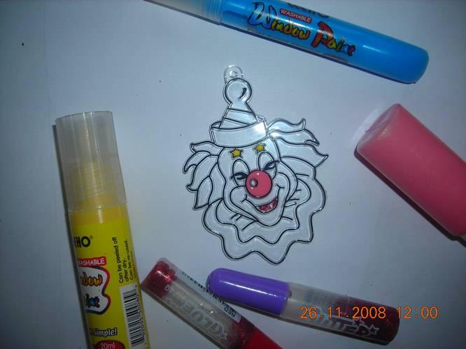 Иллюстрация 1 из 6 для Витраж малый: Клоун | Лабиринт - игрушки. Источник: Плахова  Татьяна