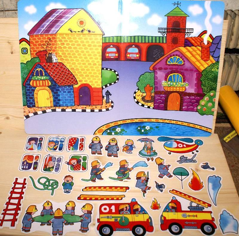 Иллюстрация 1 из 4 для MG (Игры на магнитах): Пожарная команда | Лабиринт - игрушки. Источник: РИВА