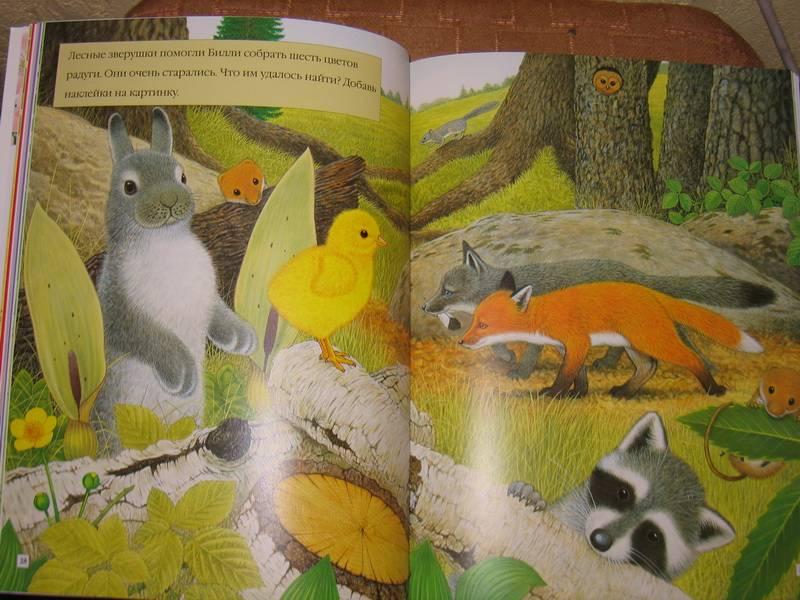Иллюстрация 1 из 5 для Чудо-наклейки. Крольчонок Билли. Счет и цвет - А. Вуд   Лабиринт - книги. Источник: Смирнова  Ирина Эдуардовна