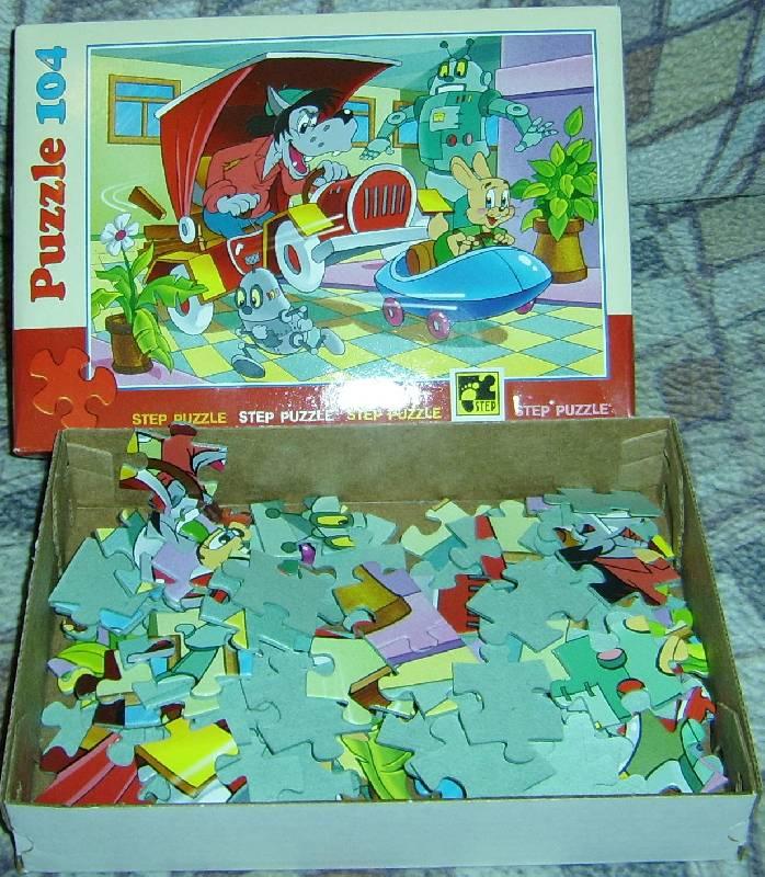 Иллюстрация 1 из 16 для Step Puzzle-104 82007 Ну, погоди! (Роботы) | Лабиринт - игрушки. Источник: Елена+