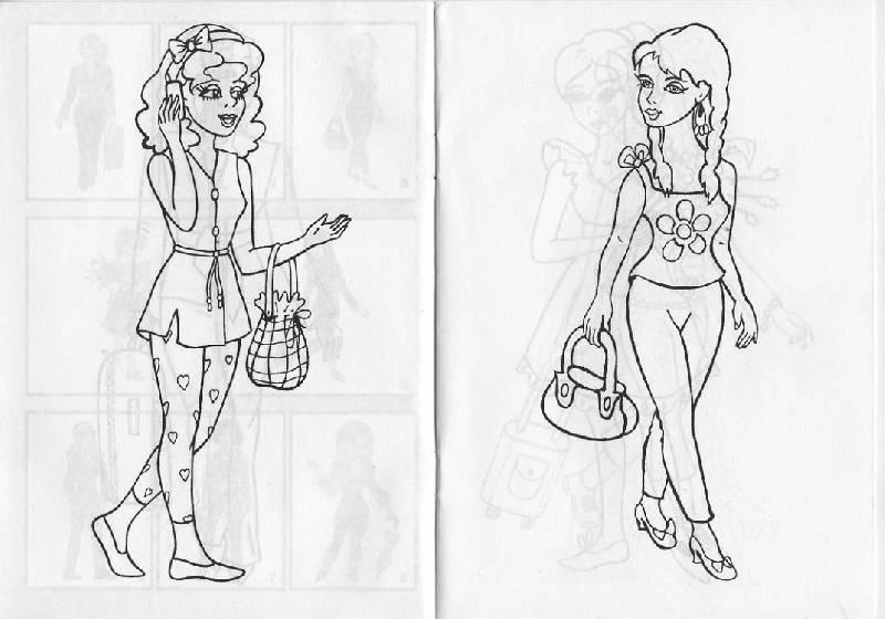Иллюстрация 1 из 5 для Раскраска: Юные модели | Лабиринт - книги. Источник: Pallada