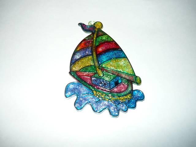 Иллюстрация 1 из 6 для Витраж малый: Яхта | Лабиринт - игрушки. Источник: Ромашка:-)