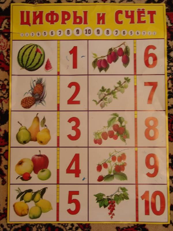 Иллюстрация 1 из 14 для Плакат: Цифры и счет 50х70см | Лабиринт - книги. Источник: Лаванда