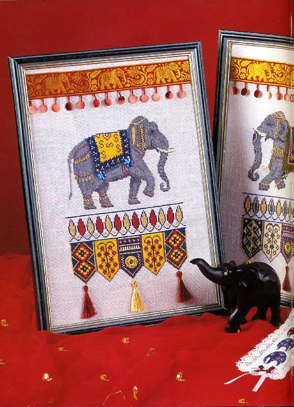 Кэрол филипсон. вышивка индийские мотивы
