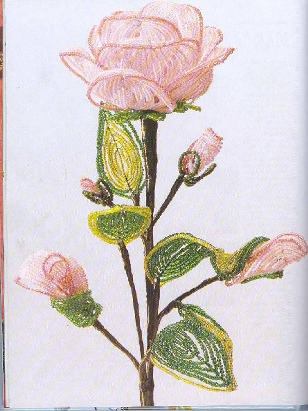 Этот цветок из бисера отличное украшение дома.  Подробная схема и описание работы.
