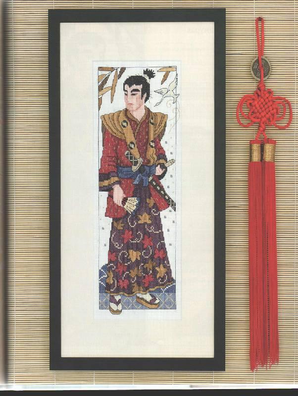 """Воин-самурай.  Книга  """"Восточная вышивка крестом """" ."""
