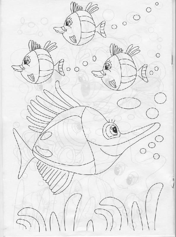 К книге раскраска подводный мир р040102