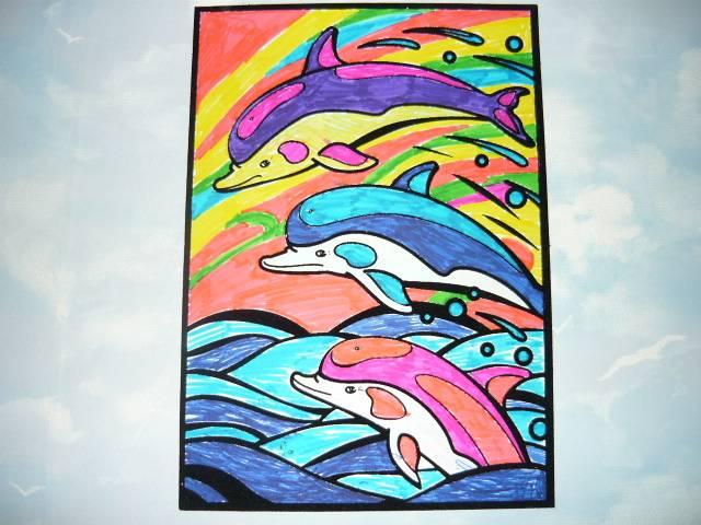 Иллюстрация 1 из 3 для Бархатная раскраска. Дельфины | Лабиринт - игрушки. Источник: Ромашка:-)