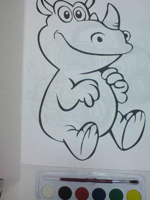 Иллюстрация 1 из 3 для Краски и раскраски (Носорог) | Лабиринт - книги. Источник: Настёна