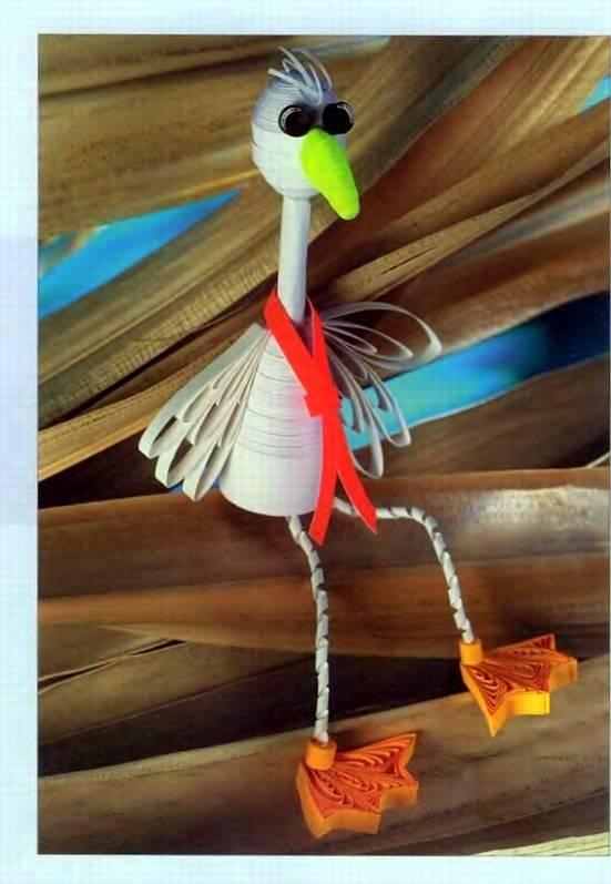 Квиллинг.  Как сделать птичку.