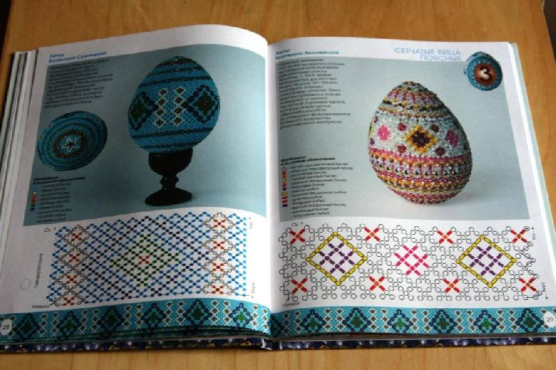 Елена Вильчевская: Пасхальные яйца из бисера.  Красивые пасхальные яйца, оплетенные бусинами и бисером.