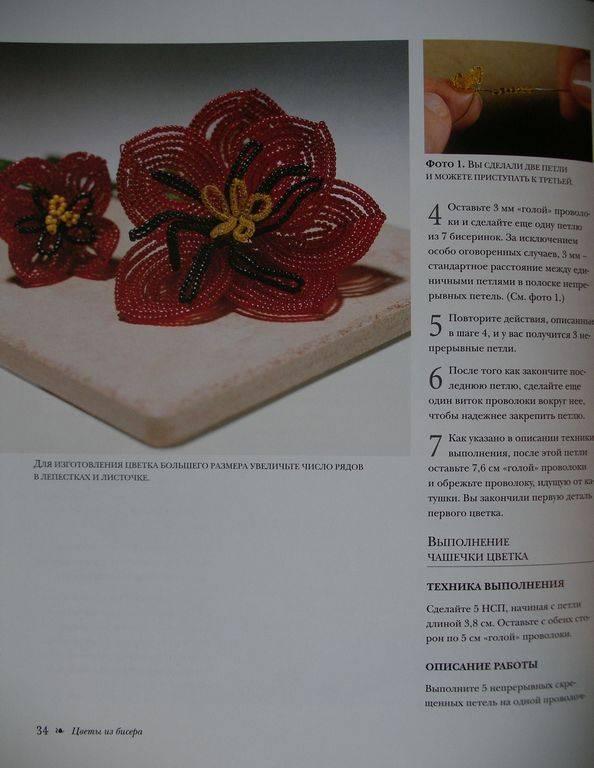 Источник. книги Цветы из бисера.  Композиции для интерьера, одежды - Кэрол Доуэлп. следующая.  Мариста.
