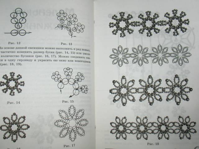 Иллюстрации Плетем снежинки из