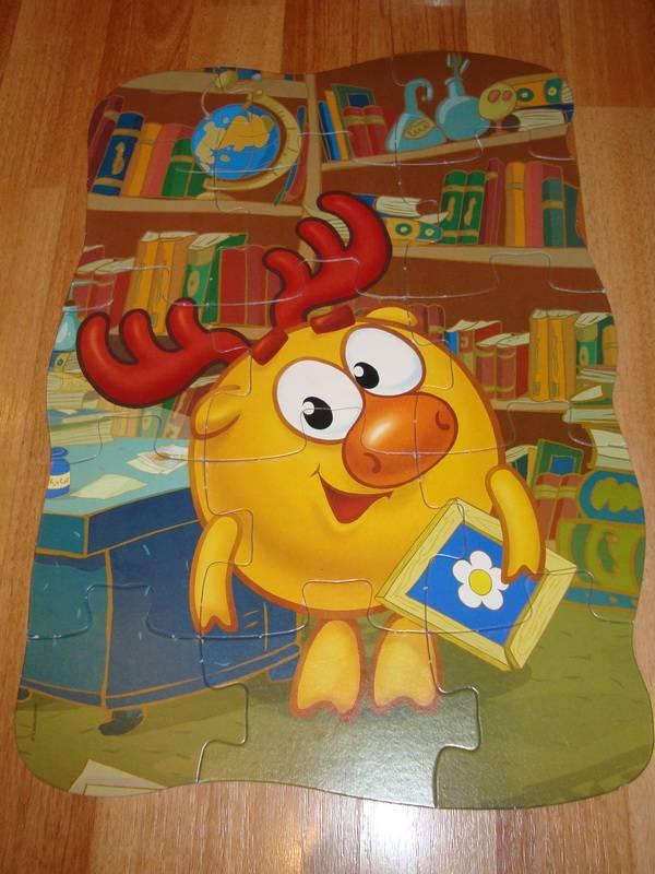 Бойкова Светланка. из 1 для.  1. игрушки Maxi Puzzle.  Смешарики.  Лосяш.  Иллюстрация.