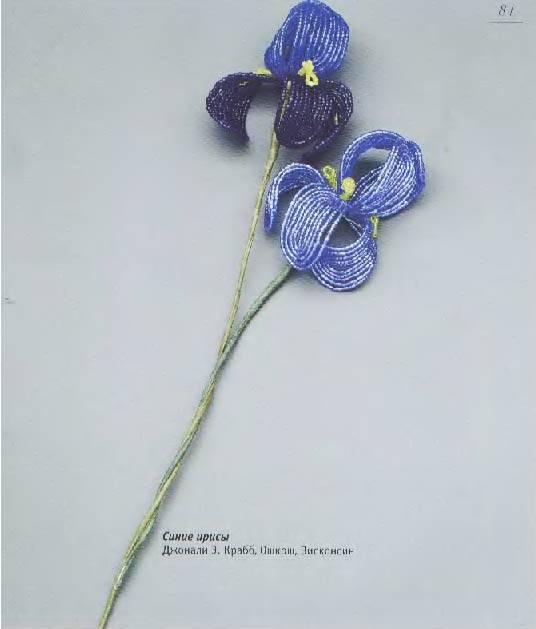 """Иллюстрация 4 к книге  """"Цветы из бисера.  Французское искусство изготовления бисерных цветов """", фотография, изображение..."""
