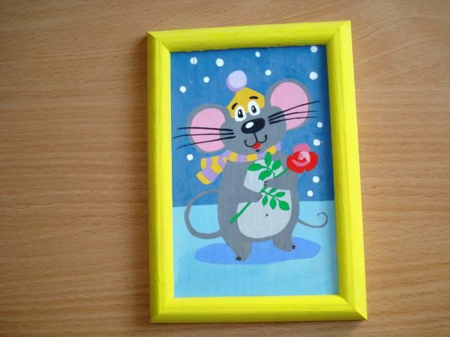 Иллюстрация 1 из 5 для Мышка: роспись по дереву | Лабиринт - игрушки. Источник: soika