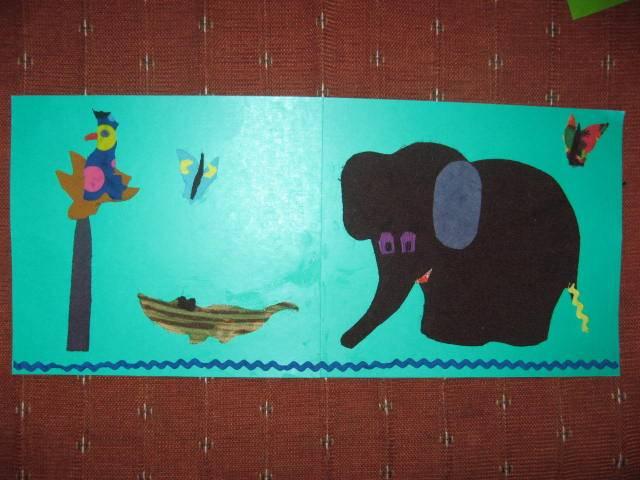 Иллюстрация 1 из 5 для Трафарет фигурный. Слоник в джунглях | Лабиринт - игрушки. Источник: libe