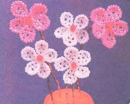 Цветочки из бисера.