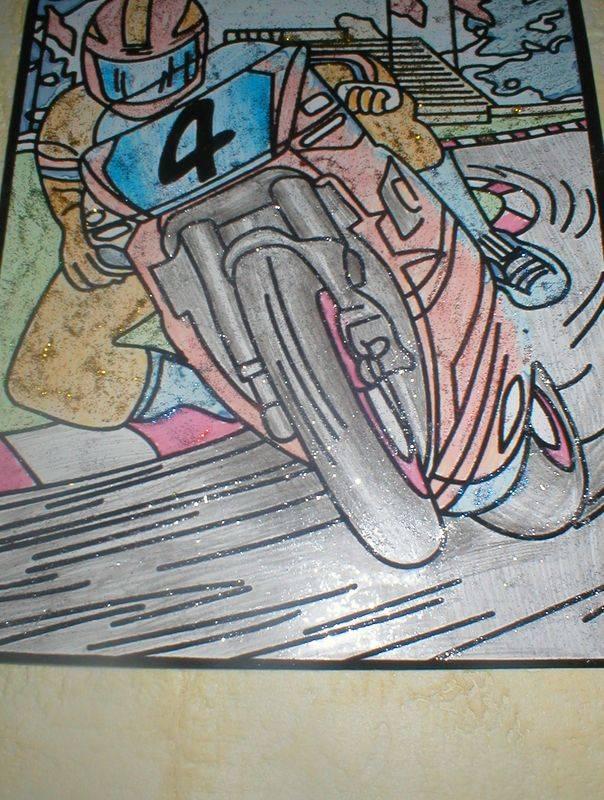 Иллюстрация 1 из 2 для Бархатная раскраска: Автогонщик (1517)   Лабиринт - игрушки. Источник: Черникова Наталья Вячеславовна