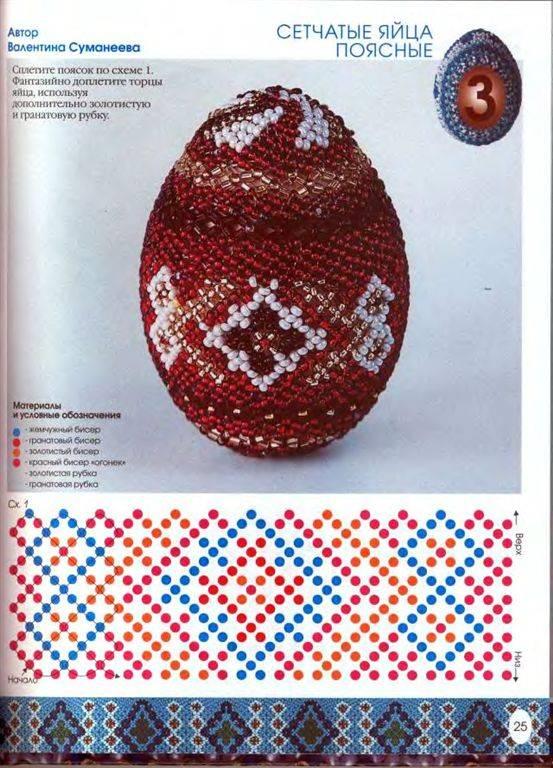 Схемы оплетения яиц бисером