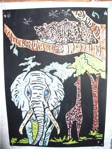 Иллюстрация 1 из 2 для Бархатная раскраска: Слон (1527)   Лабиринт - игрушки. Источник: Тарид Елена Михайловна