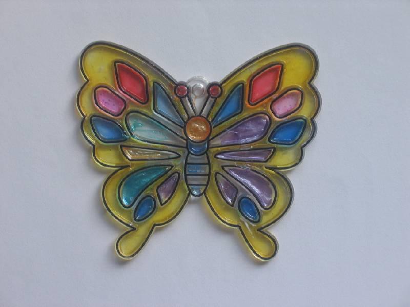 Иллюстрация 1 из 5 для Витраж малый: Бабочка | Лабиринт - игрушки. Источник: sls7