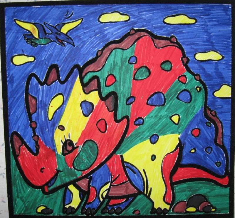 Иллюстрация 1 из 2 для Бархатные раскраски-мини. Веселый динозаврик   Лабиринт - игрушки. Источник: Ирина Викторовна