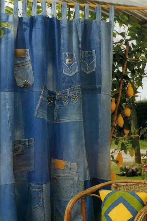 Ширма из старых джинсов