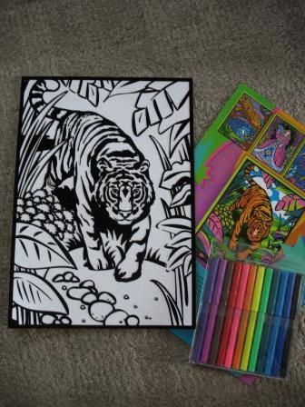 Иллюстрация 1 из 5 для Бархатные раскраски. Тигр | Лабиринт - игрушки. Источник: Д@н@я