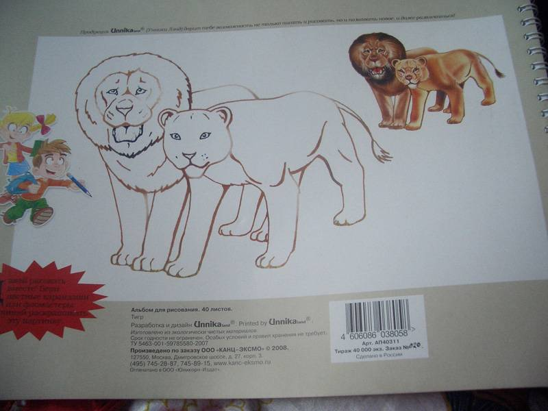 Иллюстрация 1 из 2 для Альбом для рисования 40 листов (АП40311) Тигр | Лабиринт - канцтовы. Источник: unnamed