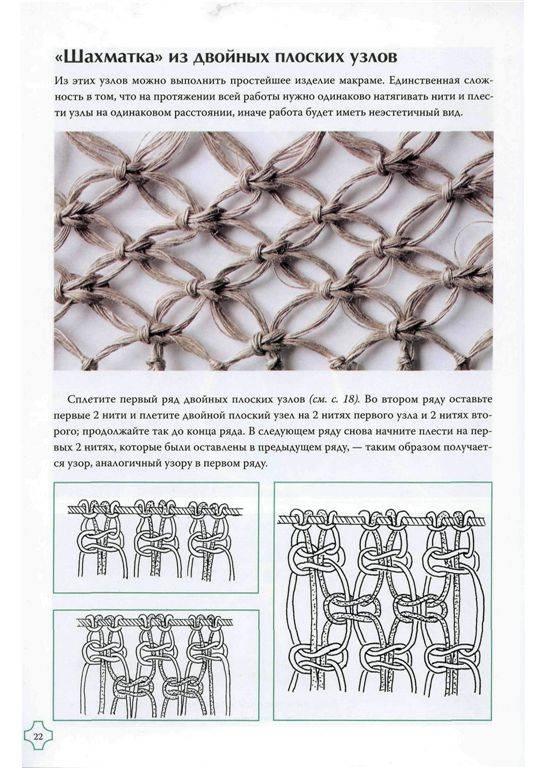 Изделия макраме для начинающих схемы